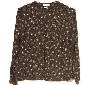 Liz Claiborne Collection 100% Silk Black Top 14